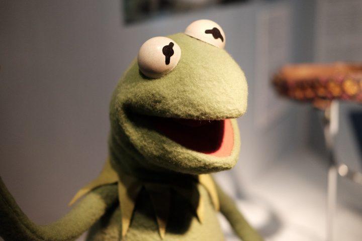 De geboorte van een kikker, genaamd Kermit