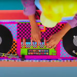 DJ deck gebouwd van lego