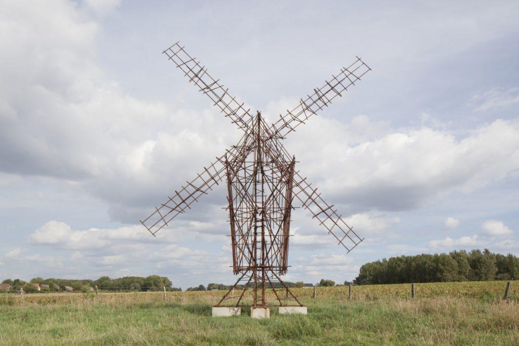 windmolen uit wapeningsstaal