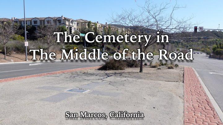 Begraafplaats midden op de weg
