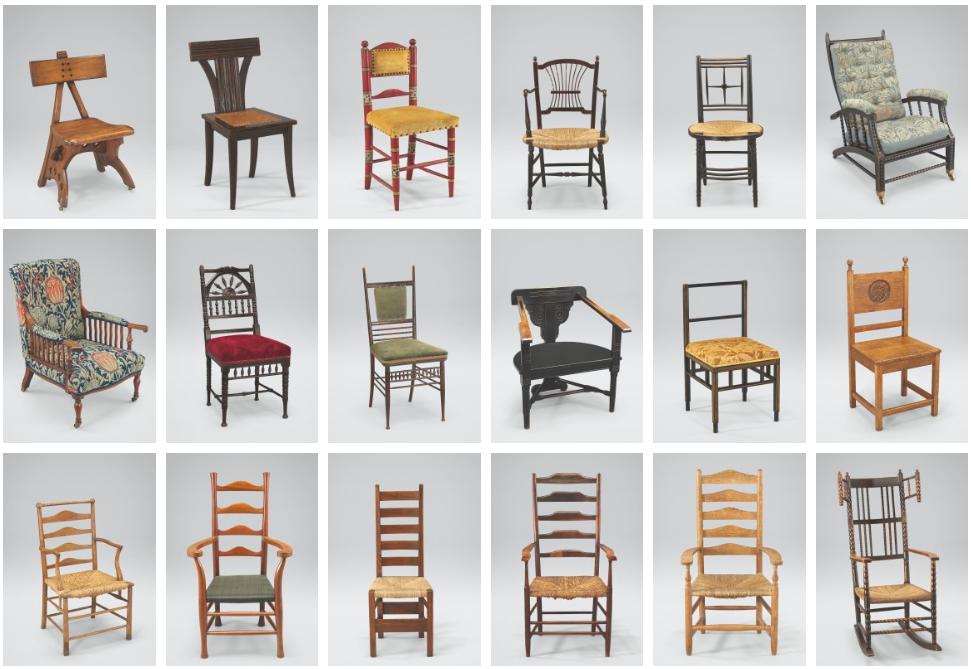 100 Britse stoelen