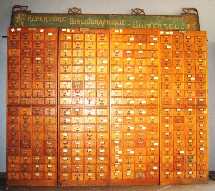 De zoekmachine met links uit 1895